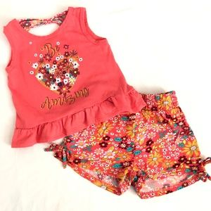 🍭Real Love- Toddler Blouse and Shorts Bundle